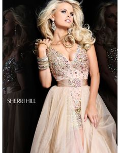 Sherri Hill Prom Dresses 2014 | Home > 2014 Sherri Hill 21103 Prom Dresses Nude