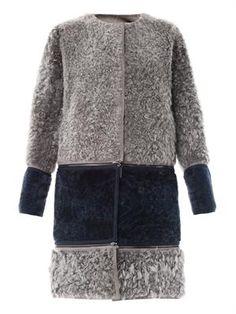 Reversible shearling coat FENDI
