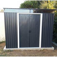Abri en métal anthracite avec Skylight 4,33m² DURAMAX sur www.mon-abri-de-jardin.com/ #mon-abri-de-jardin #duramax #garden #shed #abri #chalet #cabane #metal