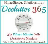 Declutter 365 Days:  365 Fifteen Minute Daily Decluttering Missions!