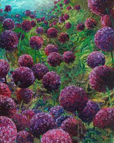 Iris Scott ~ Painting with fingers / hands