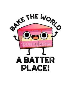 Funny Food Puns, Food Humor, Funny Doodles, Cute Doodles, Cake Jokes, Cheesy Puns, Pun Gifts, Cute Puns, Craft Images