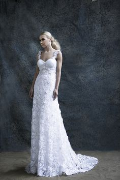 """Our """"Claudia"""" Couture Wedding Gowns, Wedding Dresses, Fairytale Bridal, Bridal Collection, Body Shapes, Fairy Tales, Chic, Lace, Fashion"""