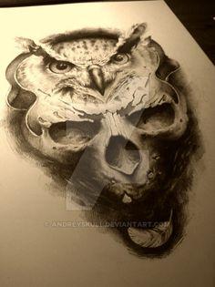 owl and skull by AndreySkull on DeviantArt