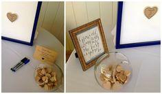 { wisp + whim: Wedding Wednesdays : My Best Friend's Malibu Wedding } #malibu #malibuwestbeachclub #wedding #beachwedding #modernwedding #guestbook #hearts #calligraphy #cobalt #blue #gold