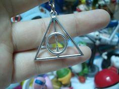 Reliquia de la muerte Harry potter - Pendientes, collar, Llavero