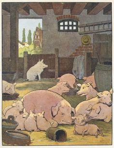 Illustration from Le Buffon de Benjamin Rabier (1913) by Benjamin Rabier www.illustrationchronicles.com