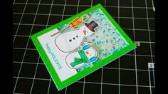 Lawn Fawn- Making Frosty Friends Christmas Shaker Card