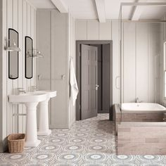 The Nicolo, our always eye-catching, one-of-a-kind patterned tile available in any size and on any stone. Let the brainstorming begin. Boy Bathroom, Bathrooms, Bubble Bath, Bathroom Renovations, Tile, Mirror, Instagram, Home Decor, Mosaics