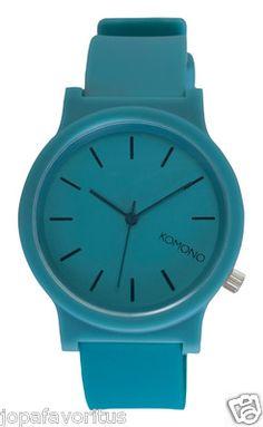 NEW Komono Relógio Fat Wizard (Teal) Wristwatch Watch