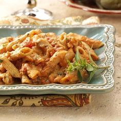 Four-Cheese Baked Penne Recipe from Taste of Home -- shared by Janet Elrod of Newnan, Georgia