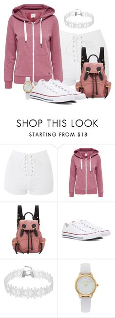 """""""[O]versized"""" by tlb0318 ❤ liked on Polyvore featuring Topshop, Burberry, Converse and Vivani"""