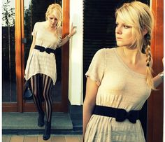 Bow & Stripes (by Tanya M.) http://lookbook.nu/look/1240457-Bow-Stripes