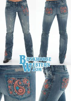 Cowgirl Tuff Jeans, Jean Top, Classy Style, Coral Blue, Gun, Paisley, Studs, Addiction, Stitching