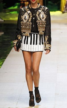 Piano Key Sequin Mini Skirt by DOLCE & GABBANA for Preorder on Moda Operandi