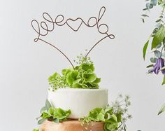 We Do Wedding Cake Topper - Copper Cake Topper - Wire Cake Topper - Wedding Decoration - metallic cake topper - Industrial Cake Topper