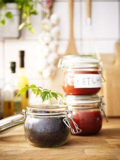 KORKEN voorraadpot. Stel je favoriete keukenbordje samen en maak kans op een cadeaupas! Klik op de link voor meer informatie. http://www.pinterest.com/ikeanederland/keukens/ #IKEAwin