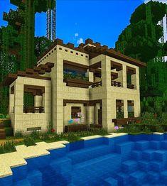 Plans Minecraft, Minecraft Bridges, Minecraft Farm, Minecraft Structures, Minecraft Survival, Cool Minecraft Houses, Minecraft Blueprints, Minecraft Crafts, Minecraft Buildings