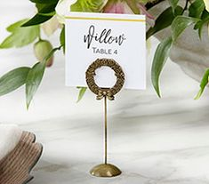 Featuring a little bit of elegance and boho chic in one beautiful package, Favors and Flowers' Gold Rustic Wreath Laurel Place Card Holder is perfect to use as you're helping guests find their seats at your botanical garden wedding! Whether your wedding i Party Places, Wedding Places, Wedding Place Cards, Small Backyard Gardens, Backyard Garden Design, Modern Backyard, Balcony Garden, Garden Landscaping, Gold Wedding Favors