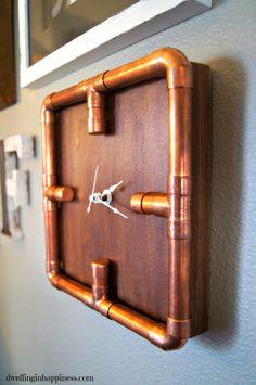 Copper Pipe Clock
