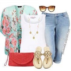 """#plus #size #outfit  """"Plus Size - Kimono II"""" by alexawebb on Polyvore"""