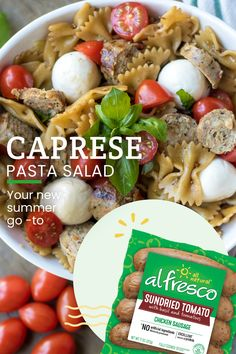 Could You Eat Pizza With Sort Two Diabetic Issues? If You're Looking For Summer Weeknight Meal Inspiration, This Pasta Recipe Is For You. Caprese Pasta Salad Is The Best For An Easy Family Dinner, And Is Sure To Be A Summertime Hit. Macaroni Recipes, Pork Recipes, Pasta Recipes, Salad Recipes, Chicken Recipes, Dinner Recipes, Cooking Recipes, Healthy Recipes, Caprese Pasta Salad