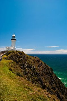 Byron Bay Lighthouse, We saw whales and dolphins from up there Light Of Life, Light House, Shining Path, Australia Travel, Visit Australia, Lighthouse Pictures, Land Of Oz, Byron Bay, Beautiful Places To Visit