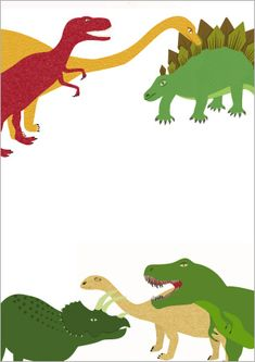 Here is some dinosaur-themed notepaper that could be used to make mats for station activities.