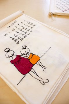 Excited to share the embroidered wall calendar 2018 to my #etsy shop:  http://etsy.me/2hPhCld  #housewares #homedecor #newyears #christmas #calendar #embroidery #wall #decor