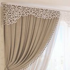 40 Amazing Woodworking Curtains Ideas - Decor Units Source by NevaKT Classic Curtains, Elegant Curtains, Beautiful Curtains, Modern Curtains, Living Room Decor Curtains, Home Curtains, Curtains With Blinds, Valance, Cornice