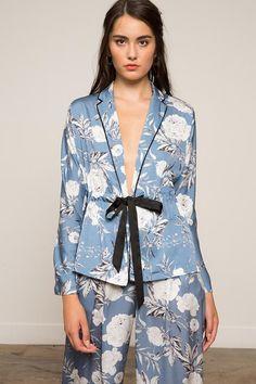 Plus Size Kimono, Plus Size Blouses, Pajama Outfits, Cute Outfits, Kimono Blouse, Floral Pants, Floral Kimono, Cotton Sleepwear, Pajamas Women