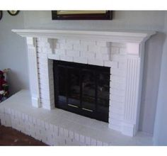 Fireplace Mantle & Surround With Brick