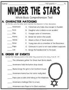 Number the Stars Test: Final Book Test with... by HappyTeacherHappyStudents   Teachers Pay Teachers