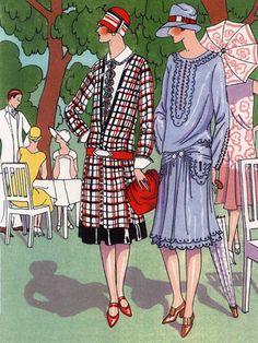 Fashion Illustraions 1920s Art Deco Doeuillet Vintage Posters Prints