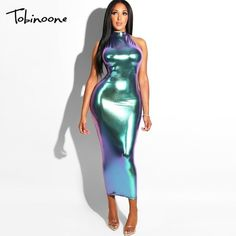 8e19a4c4f6 INDRESSME Midi Women Bandage Party Summer Dress | Sexy Women