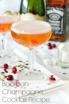 Chambord Sparkling Champagne Cocktail - the perfect drink to serve on New Year's Eve