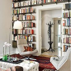 Good idea to save space and have a good bookshelf