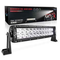 "MICTUNING 13.5 Inch 72W Combo Led Light Bar - 5000 Lumen, 6000-6200K Crystal White, Waterproof for Off-road Jeep ATV UTV SUV Truck Boat - MICTUNING LED Light Bars - The Bright Choice, for Safe and Fun MICTUNING is a leading LED lighting brand registered in US, providing cost-effective LED light bars and auto parts with 100% satisfaction aftersale service, and now we have launched a NEW Program ""Join Us to Be MIC-ers, Get 3 Yrs Exte..."