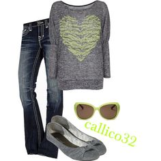 """""""green zebra heart"""" by callico32 on Polyvore"""