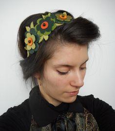 Bandeaux cheveux, Bandeau, headband, serre tête original en cuir. est une création orginale de creationsdemarie sur DaWanda