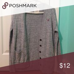Hollister sweater grey knit Hollister sweater Hollister Sweaters Cardigans