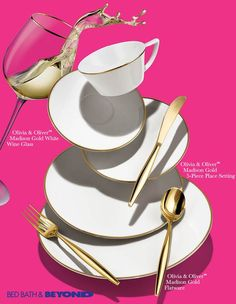 3 PERKS OF ALL-WHITE DINNERWARE  Opting for all-white dinnerware is a decision you'll be glad you made. Our new collection, Olivia & Oliver™, offers three classic perks.  1. IT'S TIMELESS  You'll thank yourself in 10 years when you have a dinnerware set that you still love.  2. FOOD STANDS OUT  Serving on all-white dinnerware is a subtle way to show off your hard work.  3. IT TIES EVERYTHING TOGETHER  An all-white spread helps you create a cohesive and trend-forward tablescape.