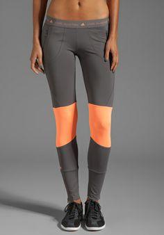 ADIDAS BY STELLA MCCARTNEY Run Perf Tight Legging in Sharp Grey - adidas by Stella McCartney