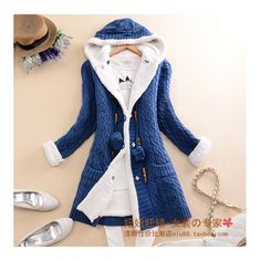 New arrival Girl Sweater Coat Winter 2016 Autumn Casual Solid Hooded Long Thicker Cashmere Knit cardigan sweater Jacket Students Winter Outfits Women, Winter Outfits For Work, Winter Coats Women, Casual Coats For Women, Cardigans For Women, Clothes For Women, Women's Cardigans, Casual Skirt Outfits, Cardigan Outfits