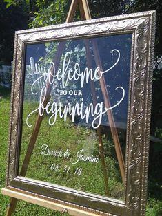 Customized Wedding Welcome Sign, 16 x Wedding Frame Sign, Welcome Sign, Wedding Sign Wedding Mirror, Wedding Entrance, Entrance Sign, Wedding Picture Frames, Wedding Frames, Wedding Welcome Signs, Diy Wedding Signs, Wedding Ideas, Chalkboard Wedding Signs