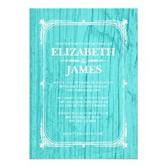 ReviewTeal Rustic Barn Wood Wedding Invitations Personalized Announcementslowest price for you. In addition you can compare price with another store and read helpful reviews. Buy