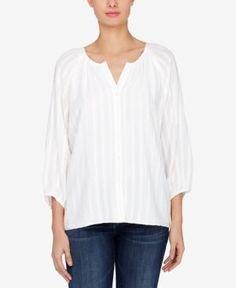 Catherine Malandrino Jacquard Blouse - White XL