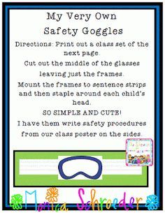 Science Goggle Freebie!