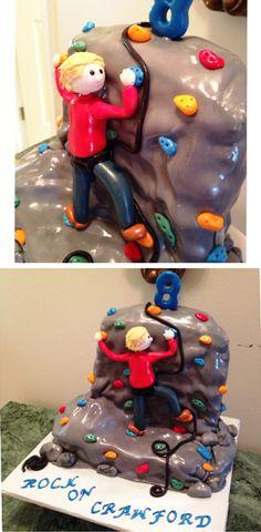 Rock Climbing Wall Cake
