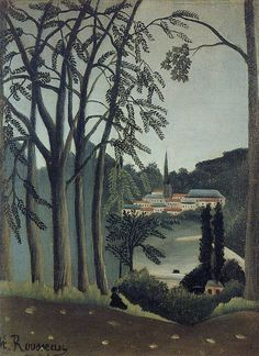 Henri Rousseau: View of Saint Cloud (1909)